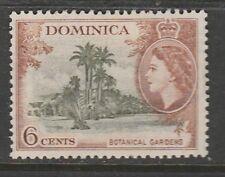 1956 DOMINICA 6C DEFINITIVE BOTANICAL GARDENS  SG 148  M/MINT