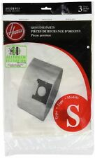 Hoover Genuine Allergen Filtration Type S Vacuum Cleaner Bags 3 Pack 4010100S
