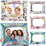 Kids Girls Birthday Party Selfie Inflatable Foil Photo Frame Photo Booth Prop