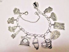 vintage sterling charm bracelet-ILLINOIS landmarks and historical #2