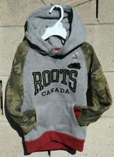 Roots hoodie Sweater top Size small 3t 4t black red green gray Camo Canada  New