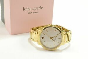 Kate Spade KSW9013 Gramercy Three-Hand Gold Tone Stainless Steel Bracelet Lad...