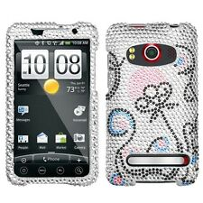 Sunny Flower Crystal Bling Case Phone Cover HTC EVO 4G