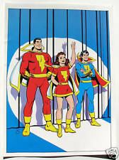 Vintage 1978 MARVEL FAMILY Pin up Poster DC MARY SHAZAM