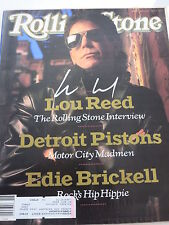 LOU REED SIGNED ROLLING STONE COVER PROOF + COA! VELVET UNDERGROUND
