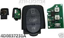 AUDI Klappschlüssel Sendeeinheit Oval  Tasten 4D0837231A 4D0 837 231 A 433,92Mhz