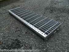 gradino in ferro zincato per scale scalino scala esterno gradini grigliato 80 cm
