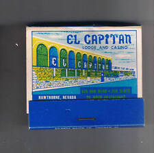 El Capitan Lodge Casino Unused Vintage Matchbook Hawthorne Nevada