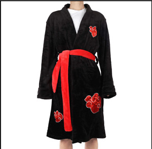 Anime Akatsuki Night Gown Sleepwear Uchiha Itachi Bathrobe Flannel Robes Cosplay