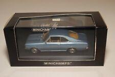 A2 1:43 MINICHAMPS OPEL REKORD C 2-DOOR 1966 METALLIC BLUE MINT BOXED