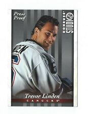 TREVOR LINDEN - 1997/98 STUDIO - VANCOUVER / SILVER PRESS PROOF 1 of 1,000