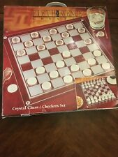 Crystal Chess and Checkers Set - New condition