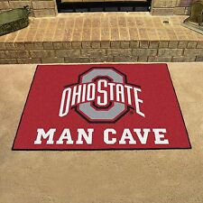"Ohio State Buckeyes Man Cave 34"" x 43"" All Star Area Rug Floor Mat"