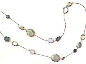 "SILPADA ""Lapis of Luxury"" Necklace Sterling Silver Chalcedony Lapis Labradorite"