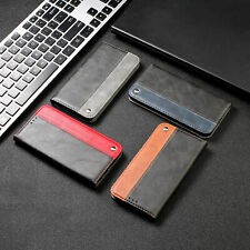 For Samsung J4 J6 Plus A7 Splicing PU Leather Flip Wallet Stand Phone Case Cover