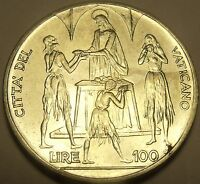 Rare Gem Unc Vatican 1968 FAO 100 Lire~Feeding of The 5,000~Awesome~Free Ship
