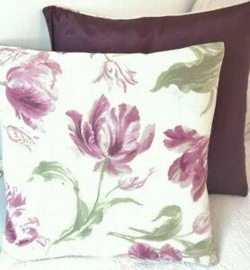 A 16 Inch Cushion Cover In Laura Ashley Gosford Berry Fabric
