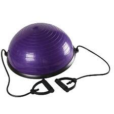 "Balance Exercise Ball Trainer 23"" Yoga Gym Workout Equipment w/ Pump Purple"