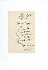 Lettera autografa dello statistico Luigi Bodio Autografo Statistica 1909 Rarità