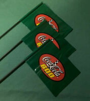 3 Coca Cola Flags New Old Stock 1990/'s NASCAR Race Free Shipping