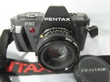 Pentax P30 35mm SLR film camera with 50mm f/2 Pentax-A lens - Tested and working