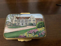 1999 Halcyon Days Trinket Box 3rd Millenium Celebration Hartford CT Mansion