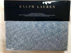 RALPH LAUREN VERONIQUE LILLIE QUEEN EXTRA DEEP FITTED SHEET BLUE 100% cotton