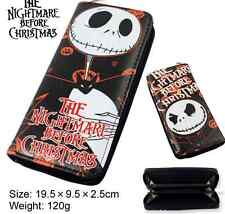 The Nightmare Before Christmas jack PU Zip Long Wallet Purse Hot