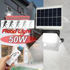 Waterproof Solar Flood Light Outdoor Garden Street Lamp Spotlight Remote Control
