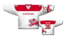 Team Denmark 2017 White Ice Hockey Jersey Custom Name and Number 97349a1b8