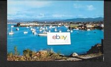 MONTEREY CALIFORNIA & PURSE SEINER FISHING BOATS AFTERNOON VIEW 1960'S POSTCARD
