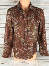 Charter Club Petite 100% Silk Blouse Button Down Womens size 4P