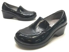 Alegria By PG Lite Emma Womens Black Patent Leather Slip On Clog Mules Size 37