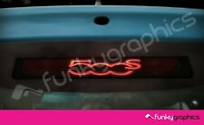FIAT 500 S SPORT LOGO 3rd BRAKE LIGHT DECAL STICKER GRAPHIC x 1 IN BLACK VINYL