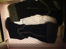 Victoria secrets suede/shearling high black boot NEW NEVER WORN Size 9