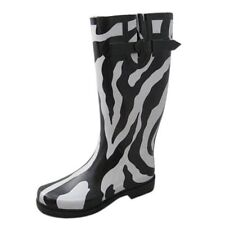 Bumper Rain/Snow Rubber Boots Zebra Print Size 6.5
