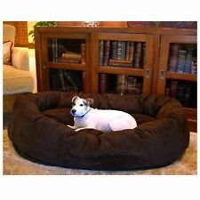 EXTRA LARGE BAGEL Dog Bed Suede Dogs Pet Majestic Chocolate Cushion Puppy Sofa