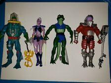 Motu Classics 4 Figure Lot. Hydron, Huntara, Lizard man and Flogg