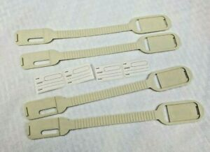 """Vtg Tupperware Gadget Heavy Duty Luggage Tags With Safety Window Set Of 4 *NOS"""""""