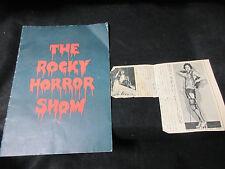 Rocky Horror Show Japan Concert Program Book Signed Copy Ziggy Byfield Glam Rock