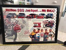 NASCAR Multi Signed Winston No Bull Poster Earnhardt Sr, Gordon, Irwin Etc JSA