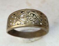 Rare Ancient Solid Ring Roman BRONZE  Stunning Artifact  vintage Rare type