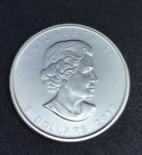 2010 Canada Maple Leaf .9999 Silver $5 Coin - 1 oz Troy - Five 5 Dollars