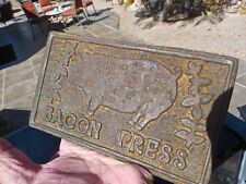 vintage collectible old cast iron Bacon Press 1950's Taiwan breakfast inclusion