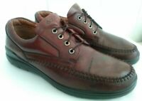 ECCO Seawalker Mens Brown Leather Casual Oxford Lace Up Shoes Size EU 44 US 10