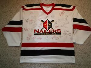 WHEELING NAILERS TEAM SIGNED JERSEY LATE 90'S-2000 OVER 30 SIGNATURES O'CONNOR