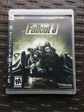 Fallout 3 (Sony PlayStation 3, 2008) w/Manual PS3