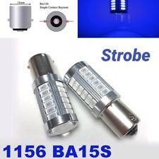 Strobe 1156 BA15S 7506 3497 P21W 33 SMD samsung LED Blue Front Signal M1 MAR
