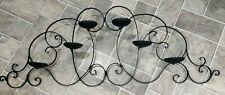 """Large Wrought Iron Candelabra Holds 6 Pillar or Round Candles Scroll Work 47.5"""""""