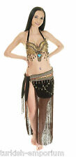 Tribal Gypsy Belly Dance Costume Halter Bra Top & Hip Skirt New UK